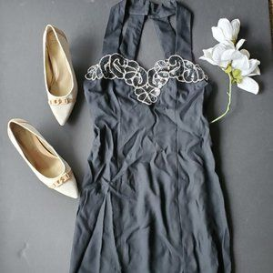 Vintage Jump Formal Black Dress